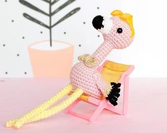 Peluche flamant rose crochet, Amigurumi flamand rose, Amigurumi flamant crochet, Peluche flamingo, Doudou flamant rose, Flamant en peluche