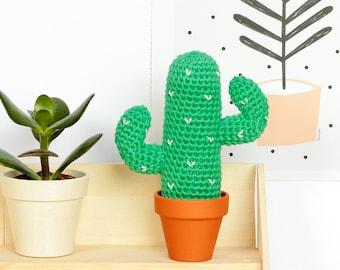 Cactus mexicain, Amigurumi cactus au crochet, Déco tropicale, Cadeau de crémaillère, Déco chambre, Pot cactus crochet, Déco cactus du désert