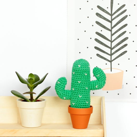 Mexikanischer Kaktus Amigurumi Häkeln Tropischen Deko Kaktus Etsy