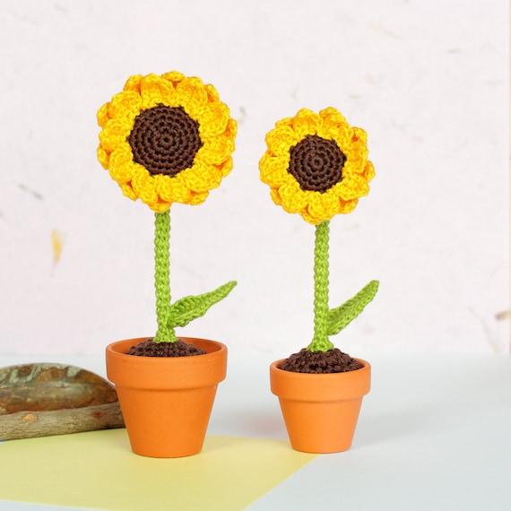 Sonnenblume Haken Kunstblumen Blume Häkeln Amigurumi Gelbe Etsy