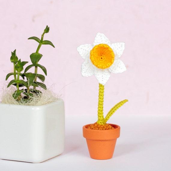 Narzissen Häkeln Geschenk Herrin Künstliche Blumen Etsy