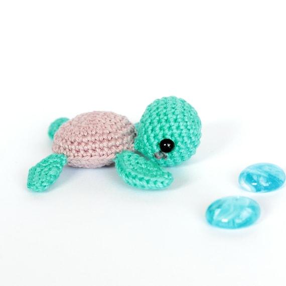 Pequeña tortuga peluche mar ganchillo tortuga amigurumi | Etsy