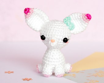 Amigurumi chihuahua, Miniature crochet plush chihuahua, Plush dog, Miniature dog, Amigurumi dog, Crochet chihuahua, Crochet dog, Dog lover
