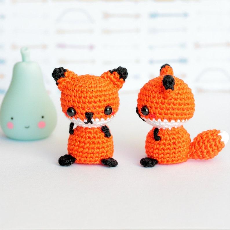 Amigurumi fox stuffed animal, Crochet amigurumi fox plush, Cute fox gifts  for friend, Mini crochet plush animals, Mini amigurumi animals