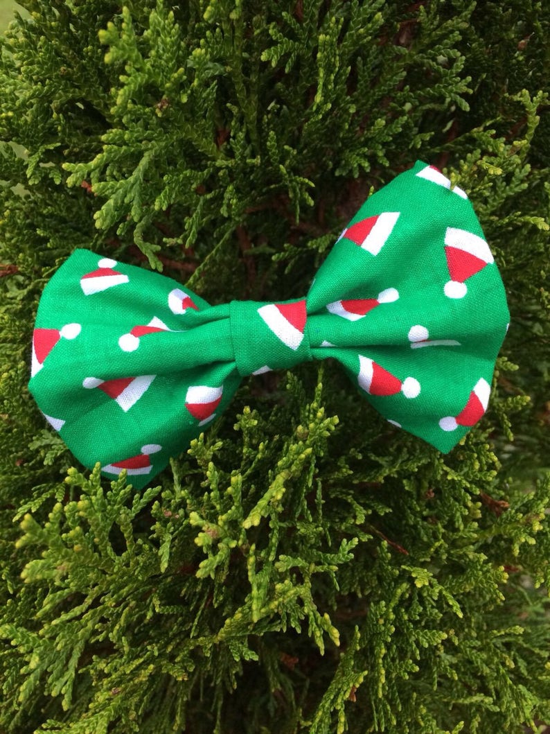Boys Santa Snowflakes Clip On Cotton Bow Tie Christmas Holiday Bowtie Clothing Shoes Jewelry Boys
