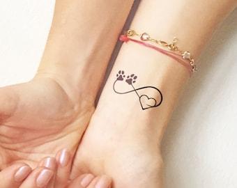 Pet love - Temporary Tattoo (Set of 2)