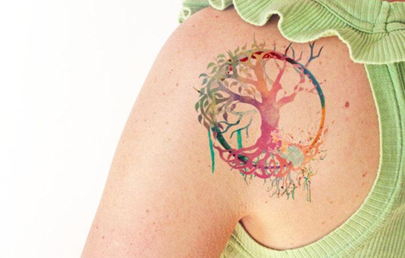 2d3b10dd7 Tree of life watercolor Temporary tattoo | Etsy