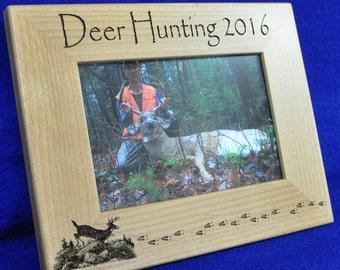 Husband Gift ~ Gift For Dad ~ Hunting Gift ~ Engraved Hunting Frame ~ First Buck Frame ~ Birthday Gift Guy ~ Deer Hunting ~ Deer Hunting ~