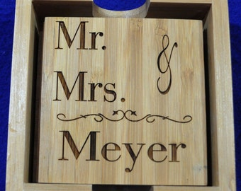Wedding Gift ~ Gift For Couple ~ Engraved Gifts For Couple ~ Engraved Coasters ~ Great Wedding Gift ~ Bridal Shower Gifts ~ Anniversary Gift