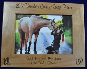 Horse Frame ~ Horse ~ Custom Picture Frame ~ Picture Frame ~ Horse Lover Gift ~ Pet Frame ~ Best Friend Gift ~ Frames ~ Western Frame ~ Pets