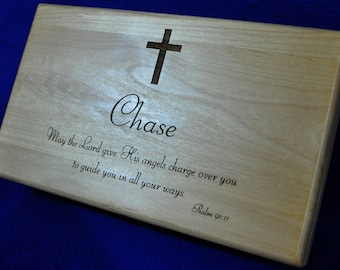 Confirmation Gift ~ Graduation Gift ~ Communion Gifts ~ Gift For Godchild ~ Bible Verse Gift ~ Keepsake Box ~ Gift For Young Man ~ Valet Box