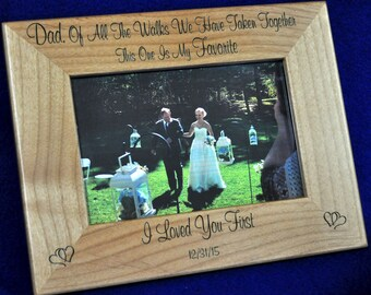 Father's Day Gifts ~ Gift For Dad ~ Birthday Gift For Dad ~ Engraved Picture Frames ~ Wedding Frame ~ Father Of Bride Frame ~ Frames ~ Dad