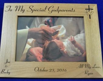 Godparent Gift ~ Baptism Gift ~ Baptism Frame ~ Godfather Gift ~ Godmother Gift ~ Godparents Frame ~ Christian Gifts ~ Baptism Frame ~ Jesus