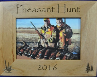 Pleasant Hunting ~ Pheasant Hunting Frame ~ Hunting Gift ~ Gift For Hunter ~ Hunting Picture Frame ~ Pheasant Hunter Gift ~ Pheasants ~ Hunt