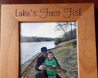 First Fish ~ First Fish Frame ~ Fishing Frames ~ Custom Frames ~ Child's First Fish ~ Picture Frames ~ Fishing Gifts ~ Christmas Gift Child