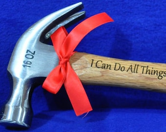 Confirmation Gift ~ Church Gifts ~ Christian Gift ~ Gift For Pastor ~ Gift For Clergy ~ Engraved Gift For Pastor ~ Engraved Hammer ~ Bible ~