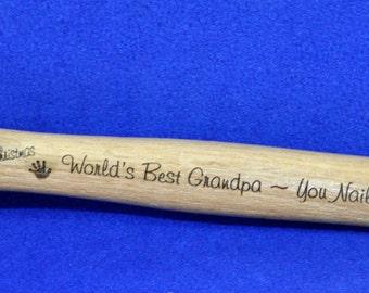 Christmas Gift For Grandpa ~ Engraved Hammer ~ Best Grandpa Gifts ~ Christmas Gifts For Men ~ Personalized Hammer ~ Gift For Dad ~ Hammer ~