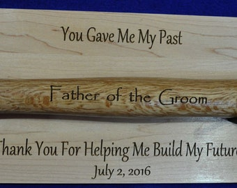 Father Of The Groom ~ Stepfather Of The Groom ~ Stepfather ~ To Dad From Son ~ Engraved Hammer ~ Groomsmen Gift ~ Grooms Dad Gift ~ Hammer