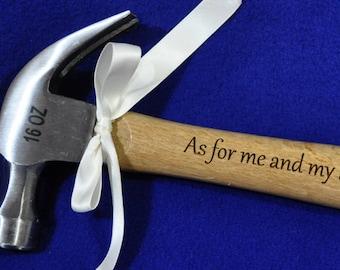 Gift For Minister ~ Christian Gift ~ Gift For Pastor ~ Gift For Clergy ~ Engraved Hammer ~ Church Worker Gift ~ Bible Verse Gift ~ Bible