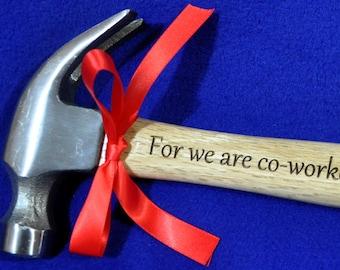 Church Worker Gift ~ Christian Gift ~ Gift For Pastor ~ Gift For Clergy ~ Engraved Hammer ~ Engraved Gift For Pastor ~ Youth Group Gift ~