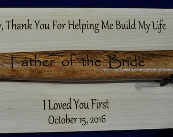 Father Of The Bride ~ Engraved Hammer Display ~ Gift For Dad ~ Gift For Husband ~ Father Of The Groom ~ Stepfather ~ Wedding ~ Hammer Gift ~