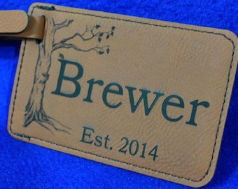 Groomsmen Gift ~ Luggage Tag ~ Leather Tag ~ Gift For Traveler ~ Destination Wedding ~ Travel Gift ~ Anniversary Gift ~ Gifts For Wedding ~