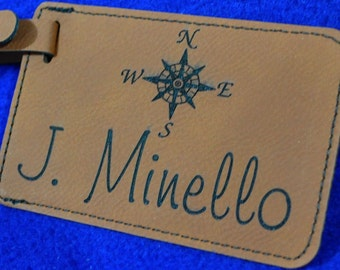 Gift For Him.  Gift For Traveler ~ Luggage Tag ~ Wedding Gift ~ Destination Wedding ~ Leather Tag ~ Travel Gifts ~ Travel Gifts ~ Tag