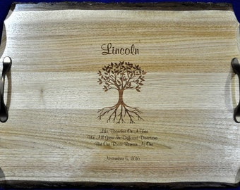Wedding Gifts ~ Wedding Gift For Couple ~ Family Tree ~ Custom Gift For Couple ~ Engraved Serving Tray ~  Wedding Gift For Parents ~ Gifts