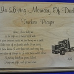 In Loving Memory ~  Memorial Gift ~ Sympathy Gifts ~ Engraved Memorial ~ Engraved Sympathy Gift ~ Trucker Gift ~ Truck Driver Memorial ~