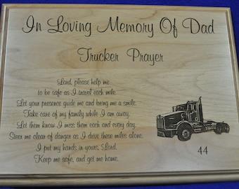 In Loving Memory ~  Memorial Gift ~ Sympathy Gifts ~ Engraved Memorial ~ Engraved Sympathy Gift ~ Trucker Gift ~ Truck Driver Memorial ~