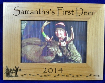 First Deer Frame First Deer Deer Hunting Frame Custom Etsy