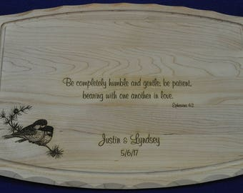 Wedding Gift For Parents ~ Wedding Gift For Couple ~ Custom Cutting Board ~ Cutting Board ~ High End Gift ~ Gift For Couple ~ Free Engraving