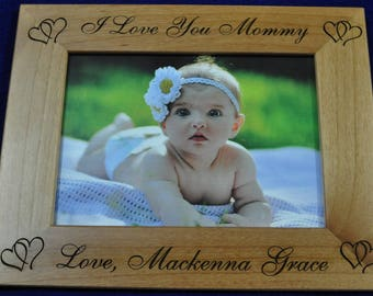 Birthday Gift For Mom ~ To Mommy From Baby ~ New Baby Gift ~ Picture Frame ~ Gift For New Parents ~ Custom Picture Frame ~ Christmas For Mom