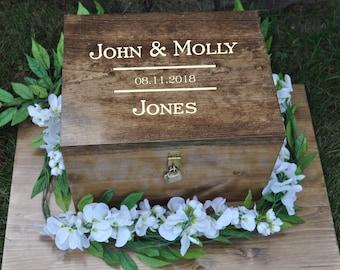 Wedding card box with lock | Etsy