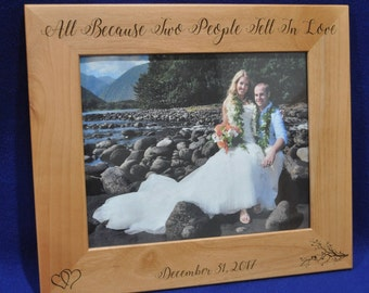 wedding gifts for couple wedding gift engraved picture frame custom wedding frames bridal shower gifts custom frames photo gifts - Custom Photo Frames