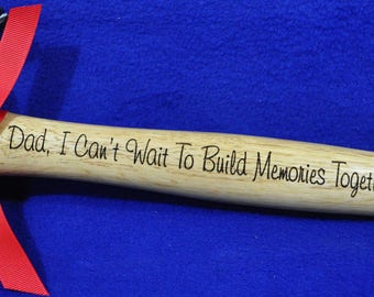 Engraved Hammer Gift For Husband New Dad Birthday To From Baby Son Gifts