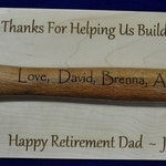 Retirement Gift For Dad ~ Personalized Retirement Gift ~ Retirement Plaque ~ Ceremonial Gift ~ Gift For Retirement ~ Retirement Gifts ~