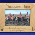 Hunting Frames ~ Pheasant Hunting Frame ~ Hunting Gift ~ Gift For Hunter ~ Hunting Picture Frame ~ Pheasant Hunter Gift ~ Pheasant Hunting ~