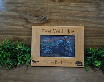 First Hog Hunt, Hunting Frames, Wild Hog Hunting, Hunting Gifts, Frames, Hunting, Gifts For Hunters, Hunter Gifts, Great Gifts For Hunters,