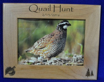 Quail Hunting ~ Hunting Frame ~ Hunting Picture Frame ~ First Hunt Frame ~ Gift For Hunters ~ Gift For Husband ~ Hunting Gifts ~ Hunting ~
