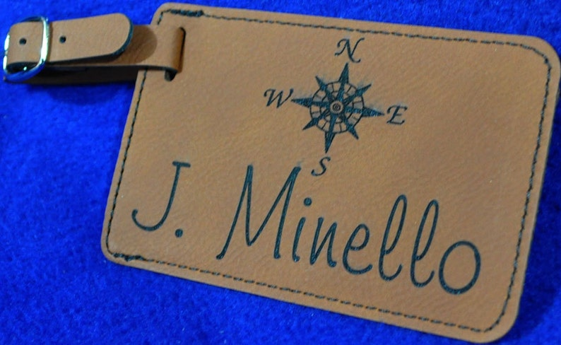 Gift For Him.  Gift For Traveler  Luggage Tag  Wedding Gift image 0