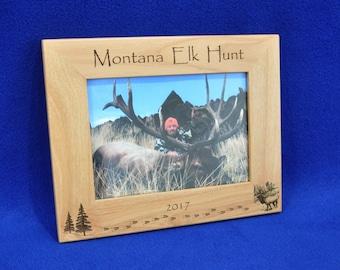 Hunting ~ Elk Hunting ~ Hunting Frame ~ Hunting Gift ~ Gift For Hunter ~ Hunting Picture Frame ~ Elk ~ Elk Hunt Frame ~ Hunter Gifts ~ Frame