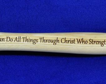 Christian Gift ~ Gift For Pastor ~ Gift For Clergy ~ Church Gifts ~ Engraved Gift For Pastor ~ Engraved Hammer ~ Bible Verse Gift ~ Jesus ~