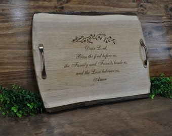 Birthday Gift For Mom ~ Mothers Day Gifts ~ Gift For Clergy ~ Serving Tray ~ Christian Gift ~ Gift For Family ~ Wedding Gift ~ Friend Gift