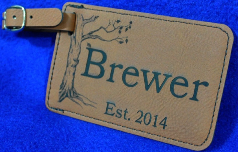 Groomsmen Gift  Luggage Tag  Leather Tag  Gift For Traveler image 0