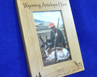 Hunting. Antelope Hunting. Hunting Frame. Hunting Gift. Gift For Hunter. Hunting Picture Frame. Antelope Deer Hunter Gift. First Hunt Gift.