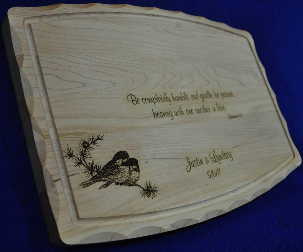 Unique Handmade Wedding Gifts: Wedding Gift Bridal Shower Gift Custom Cutting Board