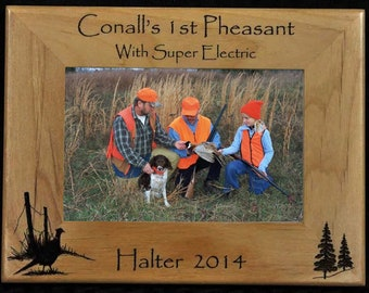 Hunting. Pheasant Hunting. Hunting Frame. Hunting Gift. Gift For Hunter. Hunting Picture Frame. Pheasant Hunter Gift. First Hunt Gift
