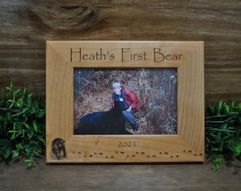 Bear Hunting Frame ~ Hunting Frames ~ Hunting Gift ~ Gift For Hunter ~ Hunting Picture Frame ~ Bear Hunter Gift ~ Bear Hunting ~ First Bear