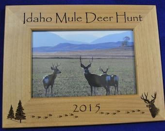 Hunting. Mule Deer Hunting. Hunting Frame. Hunting Gift. Gift For Hunter. Hunting Picture Frame. Mule Deer Hunter Gift. First Hunt Gift.